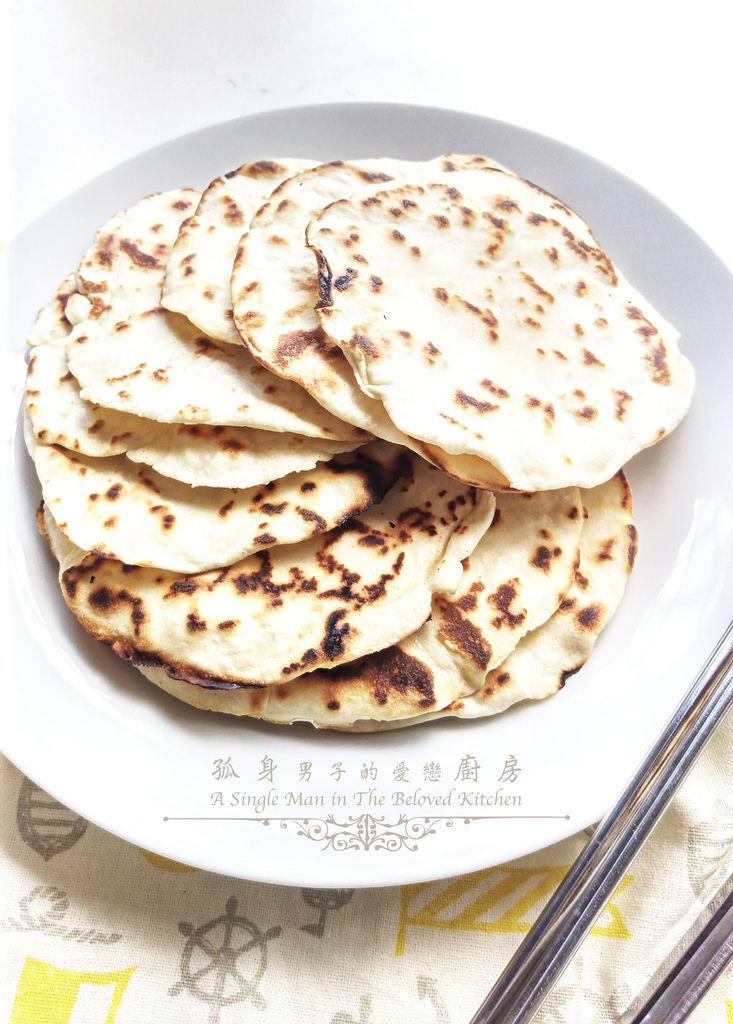 孤身廚房-墨西哥烤紅爐蝦酪梨芒果莎莎醬塔可(上)-自製麵粉版墨西哥薄餅皮Flour Tortilla15
