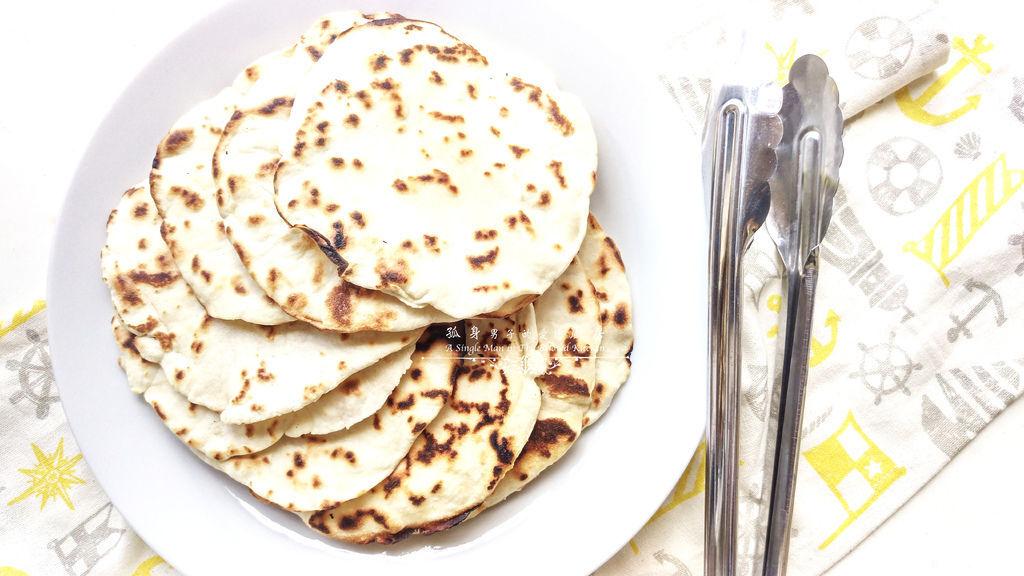 孤身廚房-墨西哥烤紅爐蝦酪梨芒果莎莎醬塔可(上)-自製麵粉版墨西哥薄餅皮Flour Tortilla16