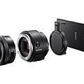 圖1.Sony【ILCE-QX1】是第一款可交換鏡頭,並擁有內建彈出式閃光燈的專業鏡頭式相機.jpg