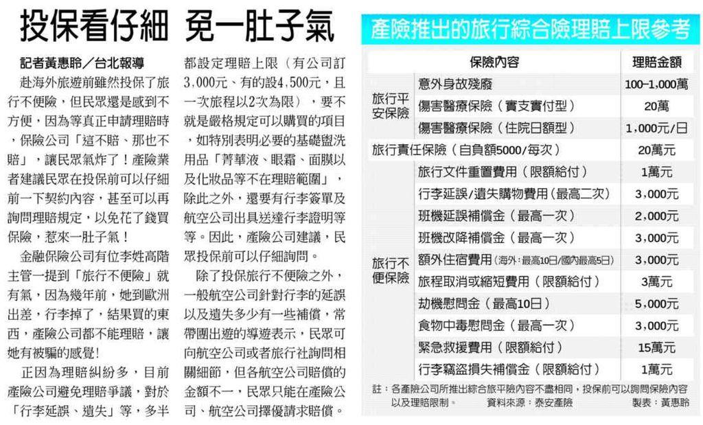 20131020[工商時報]投保看仔細 免一肚子氣