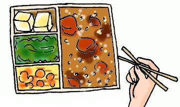 飯變成一粒粒的,完全拿不起來~也沒有湯匙~!