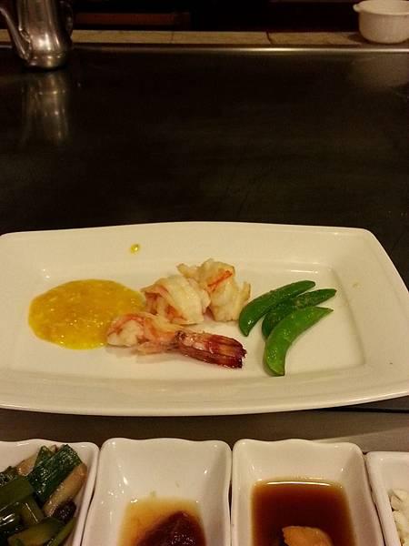 明蝦、南瓜蟹肉醬