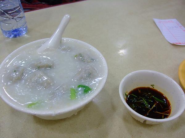 魚球粥 有菜味