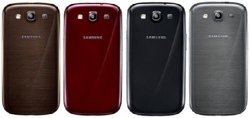 Galaxy S III 颜色 红、黑、灰 棕色