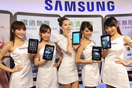 #  2010資訊月最吸睛話題性感銀河系女神現身!Samsung GALAXY Tab無限機