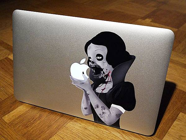cool-macbook-stickers-princess-eating-apple