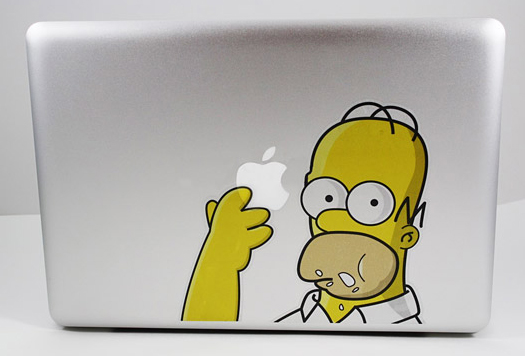 Homer-Simpson-Decal-Skin-Sticker-Macbook