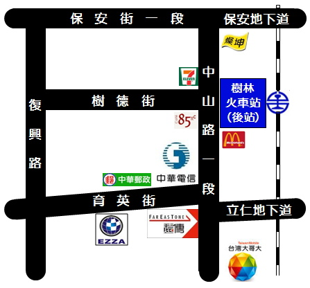樹林站地圖