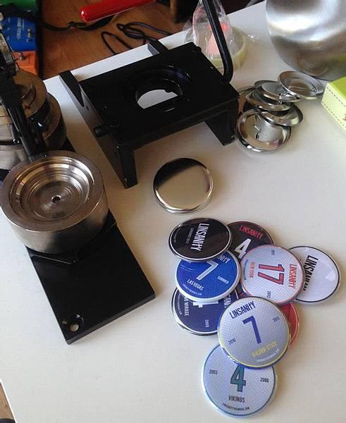 手工製作linsanity紀念鈕扣