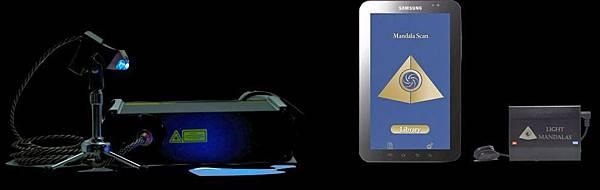 右邊的器材就是曼陀羅身心掃描器