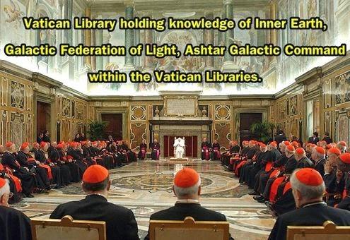 梵蒂岡圖書館藏有地心世界、銀河聯邦、阿斯塔指揮部的相關知識.jpg