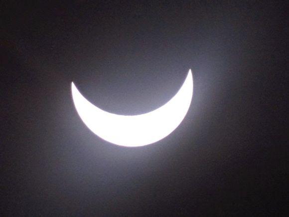 我在很靠近康斯坦茨的地方拍下這張日食照