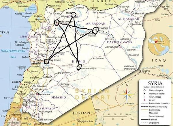 敘利亞五芒星的五個頂點都是敘利亞的重要城鎮.jpg