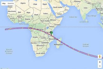 日全蝕的路徑經過剛果共和國