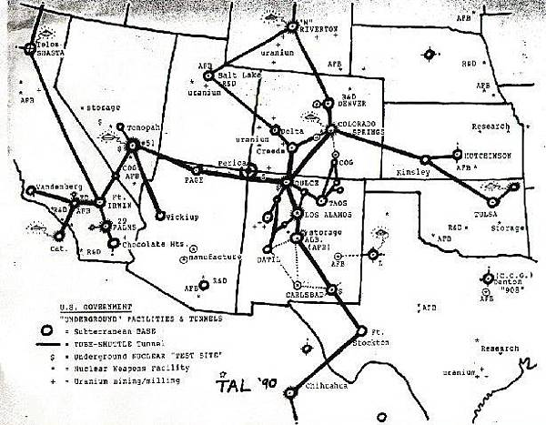 美國大約有120座地下基地而世界各地約有400座基地.jpg