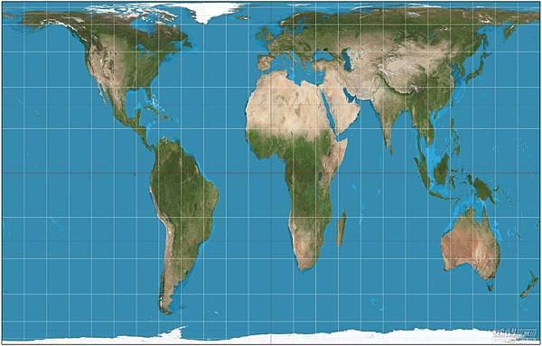 高尔彼得斯投影法地图.jpg