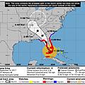 美國國家氣象局預測的颶風艾瑪路線.jpg