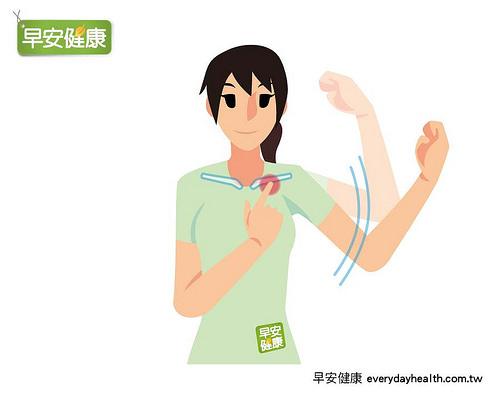 STEP3.用一根手指按壓,同時緩緩地將手臂上下揮動5~10回.jpg
