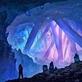 在頂部你看到閃耀著不同顏色的光的水晶.jpg