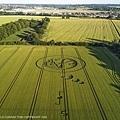 2018年6月30日,隔著莊園和教堂的另一側,距離估計約200米左右也出現一個有不尋常符號的麥田圖型.jpg