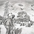 1966年墨爾本一所學校的300多名兒童和工作人員目睹了多個UFO靜悄悄地飛過天空然後降落在附近一個地方.jpg