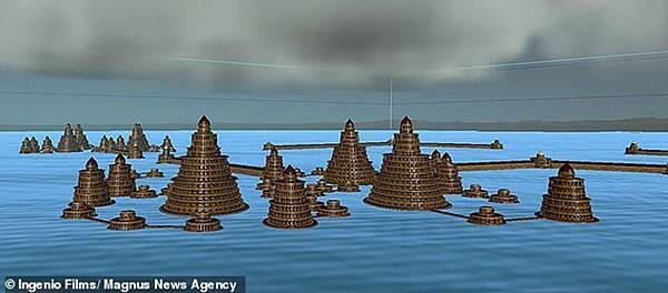 圖像顯示團隊認為亞特蘭蒂斯城看起來像什麼的電腦模型.jpg