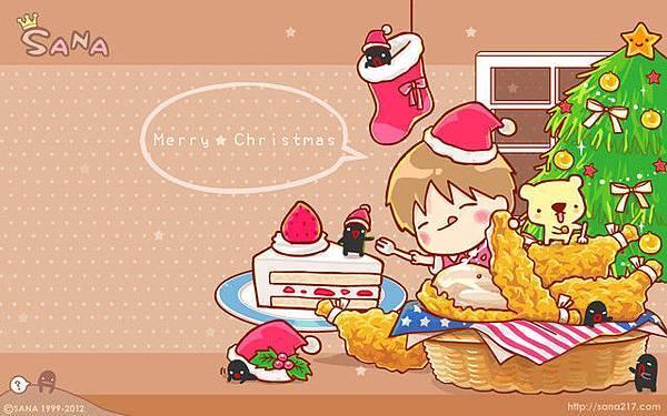 2012年12月-桌布-聖誕炸雞餐-1280-800