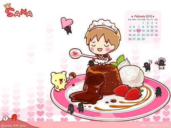 201202-桌布-情人節巧克力-1024*768
