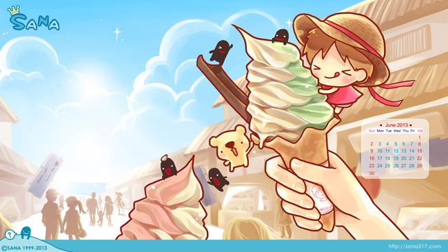 20130610-桌布-6月-霜淇淋-預覽