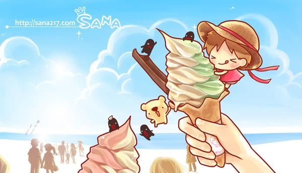 20130606-桌布-六月-霜淇淋-縮-海邊