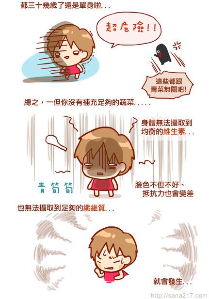 漫畫-20130604-波蜜-不吃菜很危險-2-2