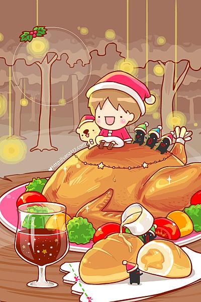 2014年12月-聖誕烤雞-手機桌布.png