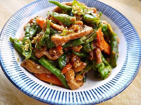 糯米椒炒肉絲