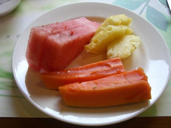 今日水果,西瓜木瓜及鳳梨