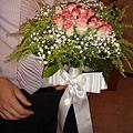 新鮮花朵的捧花