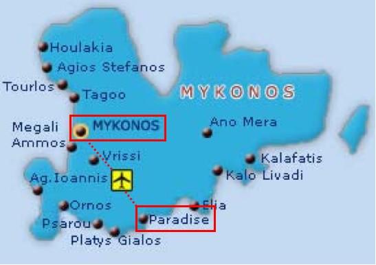 Mykonos地圖