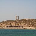 船剛要進港就看到Gate of Apollon