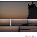 太陽下山後的晚霞