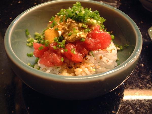 海膽鮪魚飯