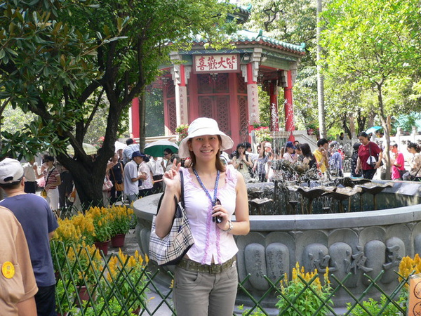 黃大仙廟的噴泉