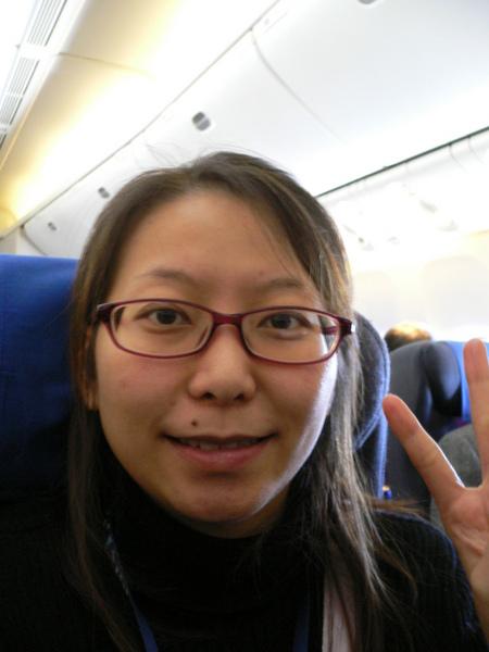 飛機上的Sandrine