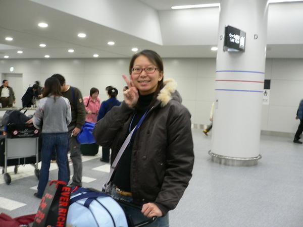 名古屋機場到了