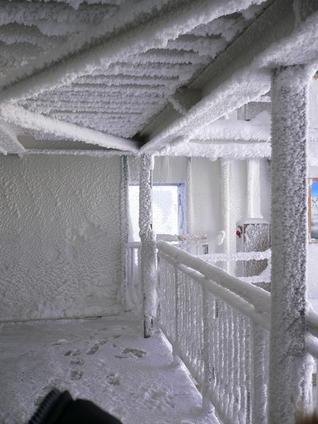 下了纜車後..旁邊的欄杆..天ㄚ..我是在冷凍室吧.