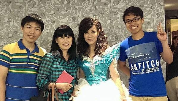 龍千玉2014年6月8日演唱會 堂妹林淑芬與乾兒子到場祝賀