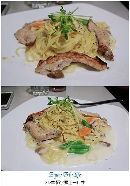 nEO_IMG_嫩雞胸+野菇奶油義大利麵