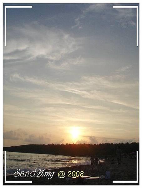 白砂灣夕陽