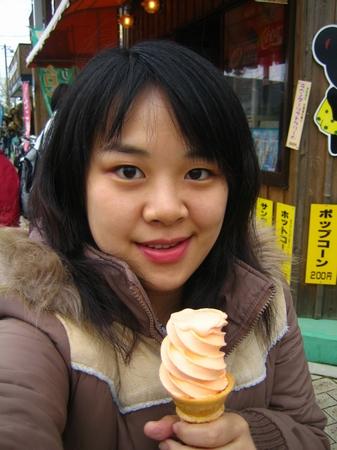 我點的哈密瓜雙淇淋