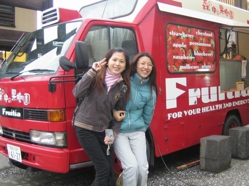 走往弘前城經過的小販賣車