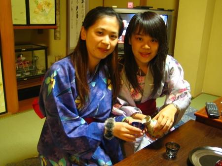 還請我們喝日本清酒