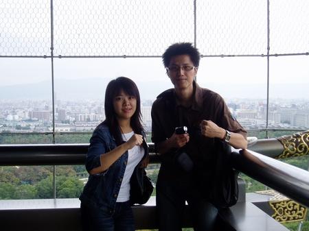 大阪城頂層
